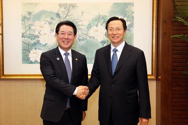 韩长赋会见韩国农林畜产食品部部